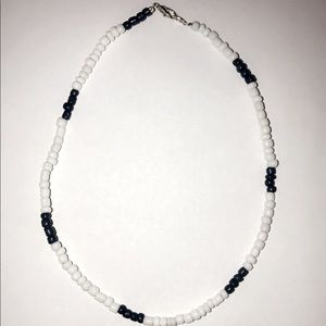 White and dark blue beaded choker! Buy two for $14
